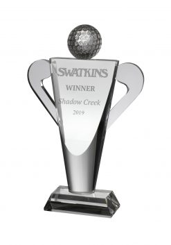 Golf Trophy Crystal
