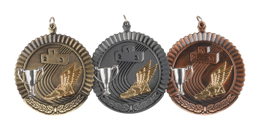 50mm FREE ENGRAVING,CENTRES /& RIBBONS GOLD,SILVER /& BRONZE 3 x SNOOKER MEDALS