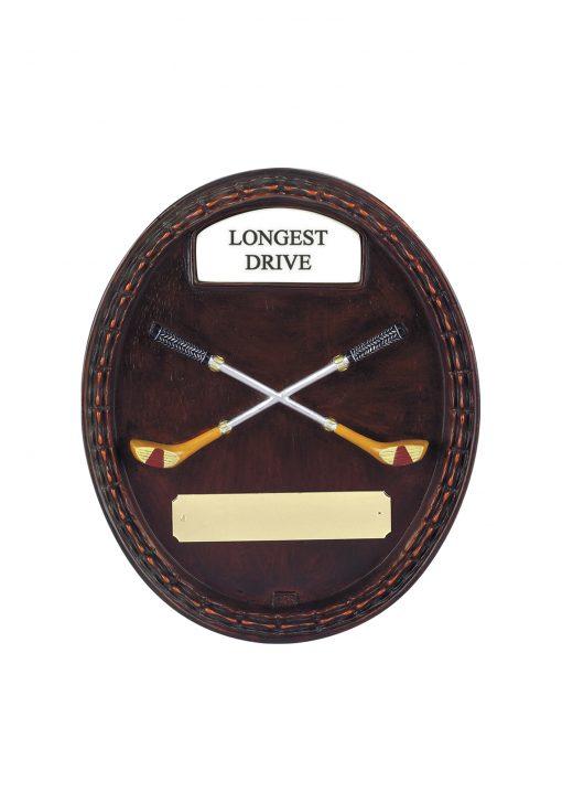 Longest drive plaque